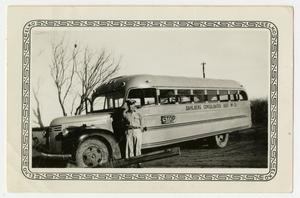 [Photograph of a School Bus and Driver]