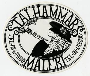 "Primary view of object titled '[Decal Advertisement for ""Stalhammars Maleri""]'."