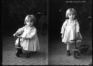 Primary view of object titled '[Portraits of Child with Tricycle]'.