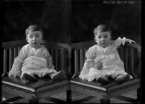 Primary view of object titled '[Portraits of Baby Sitting in Chair]'.