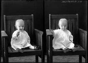 Primary view of object titled '[Portraits of Baby with Pipe]'.