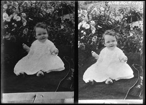 Primary view of object titled '[Portraits of Child Outside]'.