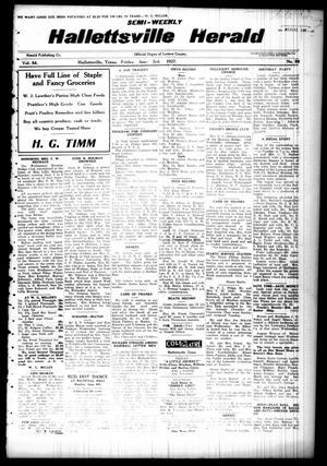 Semi-weekly Hallettsville Herald (Hallettsville, Tex.), Vol. 54, No. 99, Ed. 1 Friday, June 3, 1927