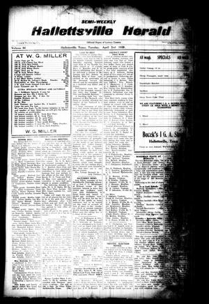 Semi-weekly Hallettsville Herald (Hallettsville, Tex.), Vol. 56, No. [74], Ed. 1 Tuesday, April 2, 1929