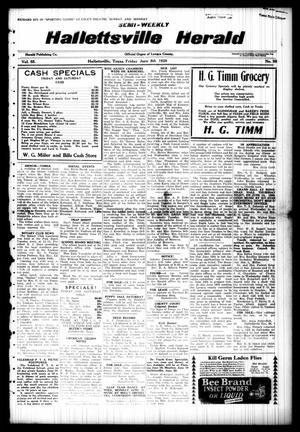 Semi-weekly Hallettsville Herald (Hallettsville, Tex.), Vol. 55, No. 98, Ed. 1 Friday, June 8, 1928