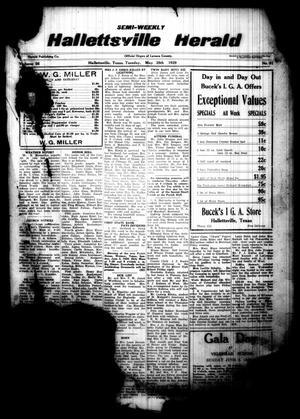 Semi-weekly Hallettsville Herald (Hallettsville, Tex.), Vol. 56, No. 91, Ed. 1 Tuesday, May 28, 1929