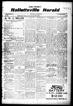 Semi-weekly Hallettsville Herald (Hallettsville, Tex.), Vol. 54, No. 62, Ed. 1 Tuesday, January 25, 1927