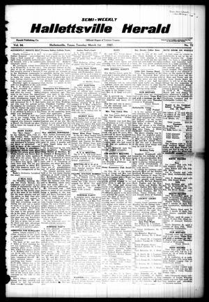 Semi-weekly Hallettsville Herald (Hallettsville, Tex.), Vol. 54, No. 72, Ed. 1 Tuesday, March 1, 1927