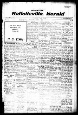 Semi-weekly Hallettsville Herald (Hallettsville, Tex.), Vol. 55, No. 56, Ed. 1 Friday, January 13, 1928