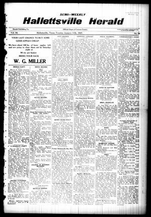 Semi-weekly Hallettsville Herald (Hallettsville, Tex.), Vol. 54, No. 59, Ed. 1 Tuesday, January 11, 1927