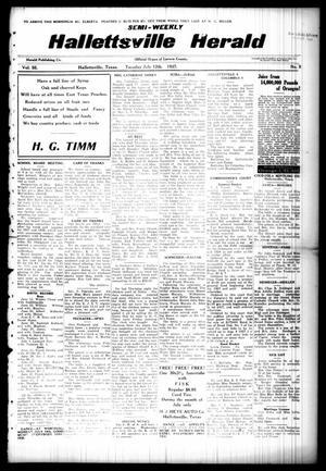 Semi-weekly Hallettsville Herald (Hallettsville, Tex.), Vol. 55, No. 5, Ed. 1 Tuesday, July 12, 1927