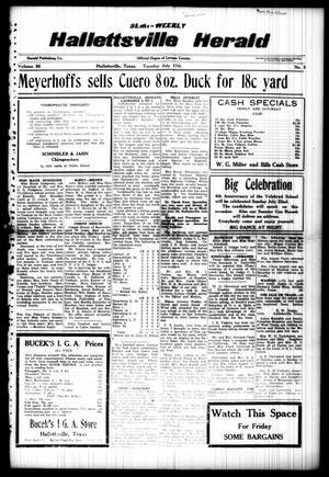Semi-weekly Hallettsville Herald (Hallettsville, Tex.), Vol. 56, No. 5, Ed. 1 Tuesday, July 17, 1928