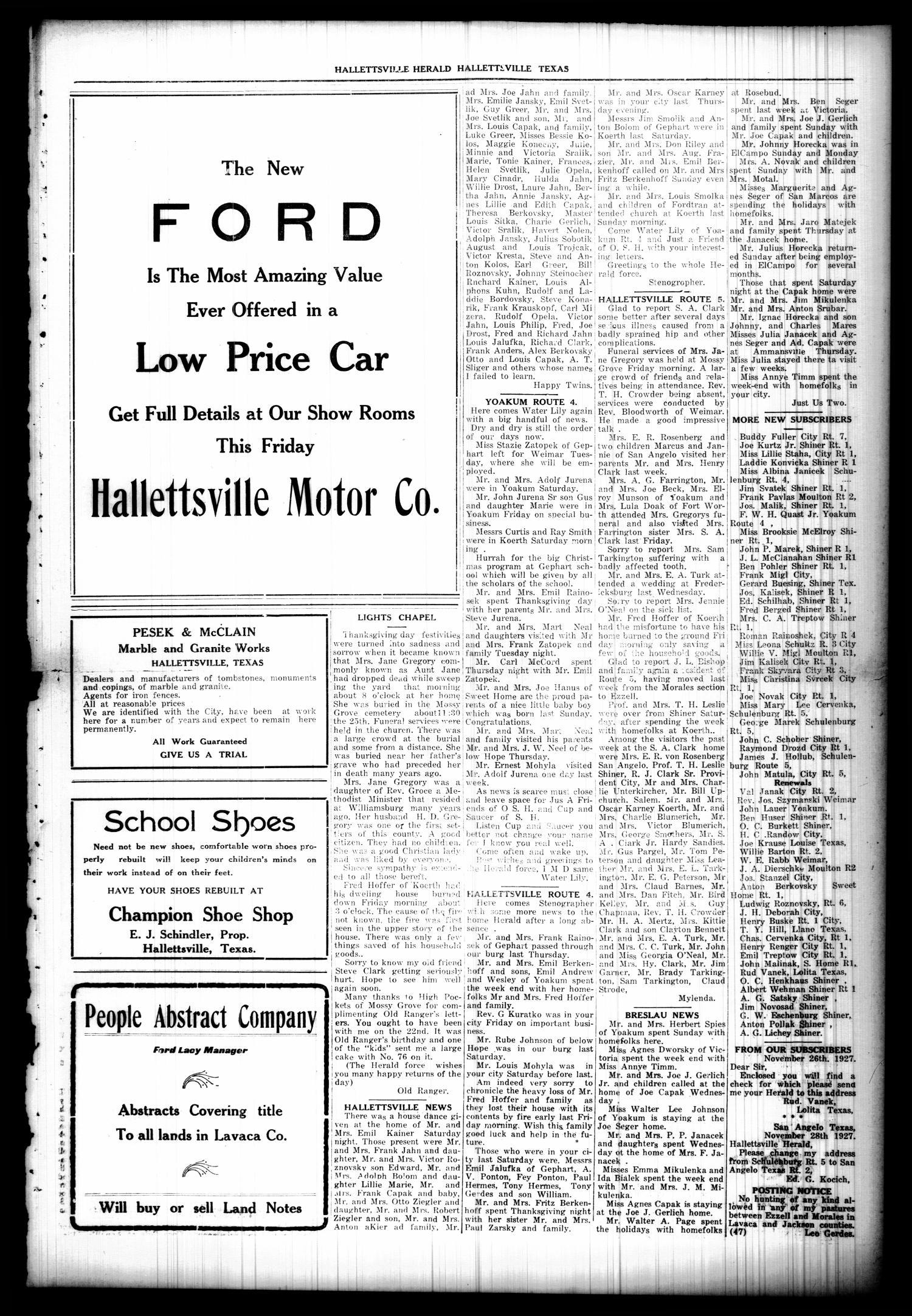 Semi Weekly Hallettsville Herald Hallettsville Tex Vol 55