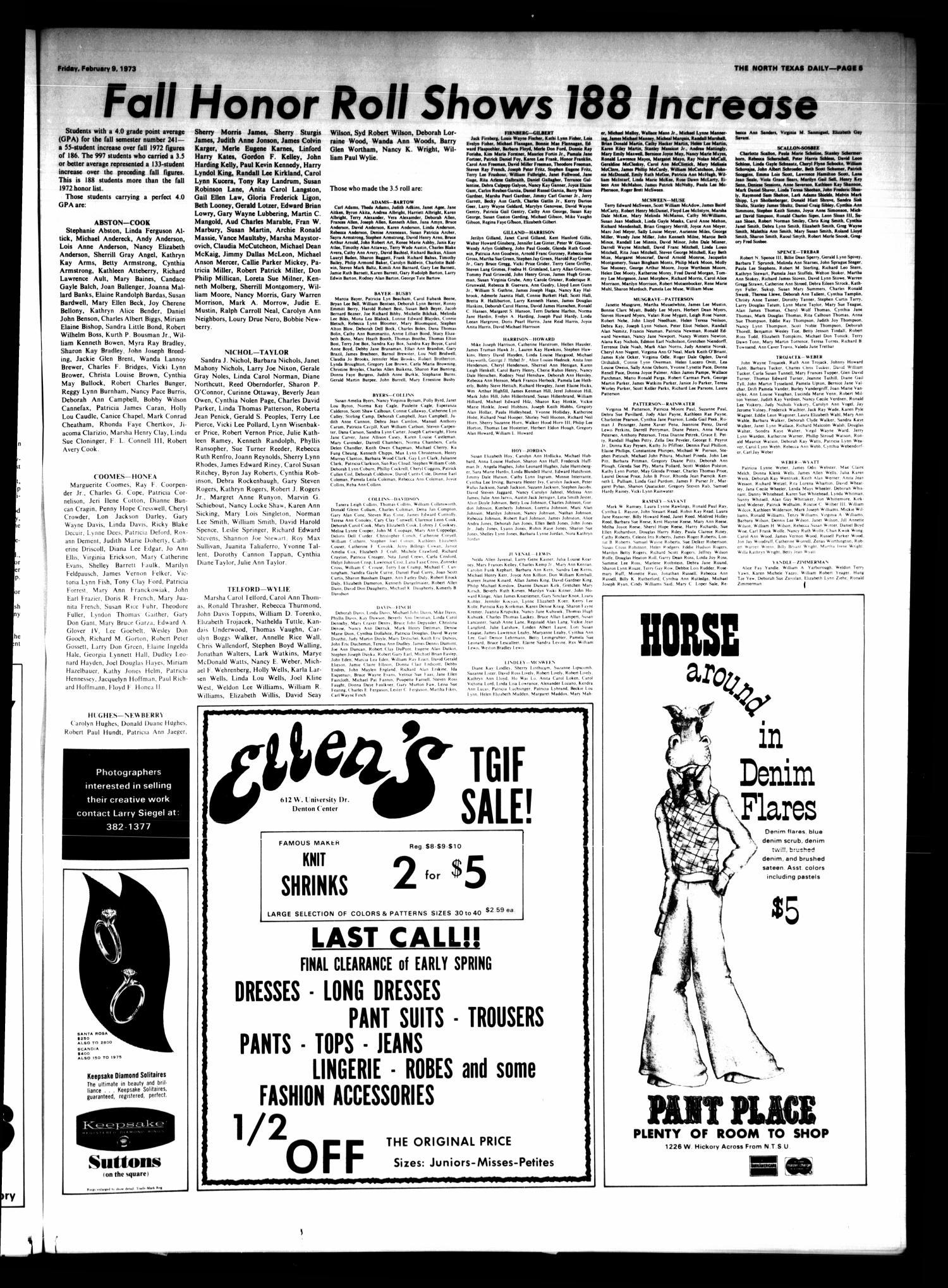The North Texas Daily Denton Tex Vol 56 No 68 Ed 1 Friday