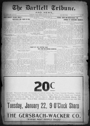 Primary view of object titled 'The Bartlett Tribune and News (Bartlett, Tex.), Vol. 38, No. 22, Ed. 1, Friday, January 18, 1924'.