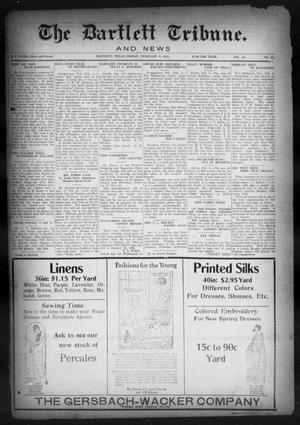 Primary view of object titled 'The Bartlett Tribune and News (Bartlett, Tex.), Vol. 38, No. 25, Ed. 1, Friday, February 8, 1924'.