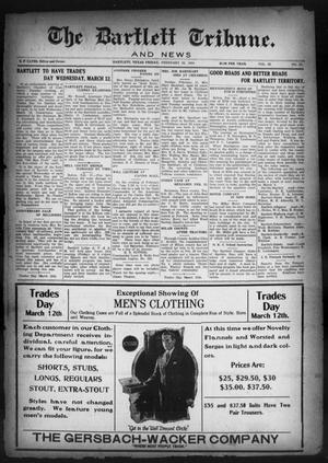 Primary view of object titled 'The Bartlett Tribune and News (Bartlett, Tex.), Vol. 38, No. 27, Ed. 1, Friday, February 22, 1924'.