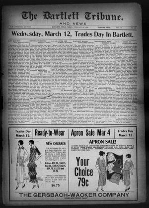 Primary view of object titled 'The Bartlett Tribune and News (Bartlett, Tex.), Vol. 38, No. 28, Ed. 1, Friday, February 29, 1924'.