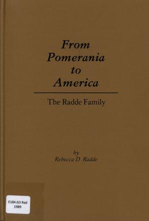 Primary view of object titled 'From Pomerania to America'.