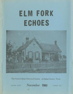 Primary view of object titled 'Elm Fork Echoes, Volume 8, Number 2, November 1980'.