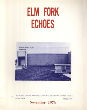 Primary view of object titled 'Elm Fork Echoes, Volume 4, Number 2, November 1976'.