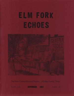 Elm Fork Echoes, Volume 9, Number 2, November 1981