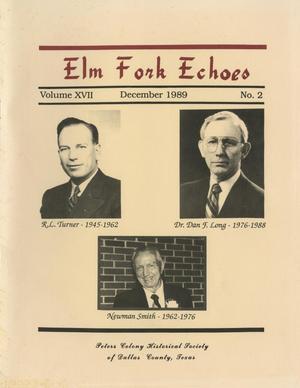 Elm Fork Echoes, Volume 17 , Number 2 , December 1989