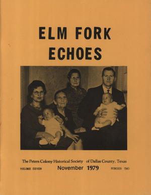 Elm Fork Echoes, Volume 7, Number 2, November 1979