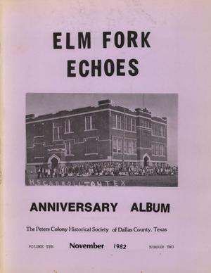 Primary view of object titled 'Elm Fork Echoes, Volume 10, Number 2, November 1982'.