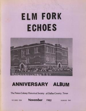 Elm Fork Echoes, Volume 10, Number 2, November 1982