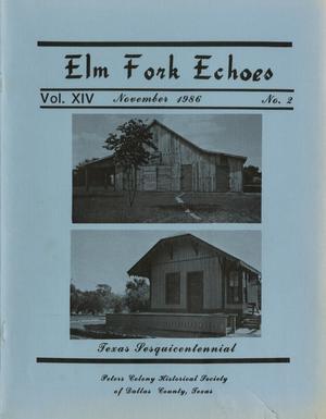 Elm Fork Echoes, Volume 14, Number 2, November 1986