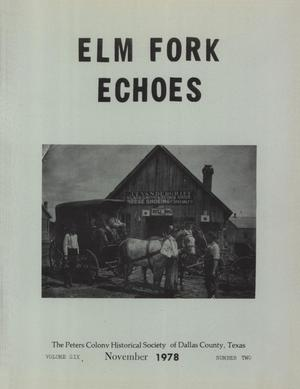 Primary view of object titled 'Elm Fork Echoes, Volume 6, Number 2, November 1978'.