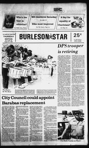 Primary view of object titled 'Burleson Star (Burleson, Tex.), Vol. 18, No. 90, Ed. 1 Thursday, August 25, 1983'.