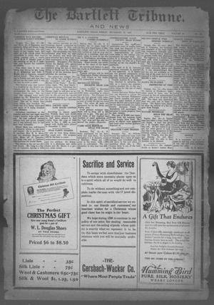 Primary view of object titled 'The Bartlett Tribune and News (Bartlett, Tex.), Vol. 40, No. 20, Ed. 1, Friday, December 18, 1925'.