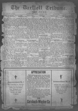 Primary view of object titled 'The Bartlett Tribune and News (Bartlett, Tex.), Vol. 40, No. 22, Ed. 1, Friday, January 8, 1926'.