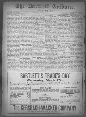Primary view of object titled 'The Bartlett Tribune and News (Bartlett, Tex.), Vol. 40, No. 31, Ed. 1, Friday, March 12, 1926'.