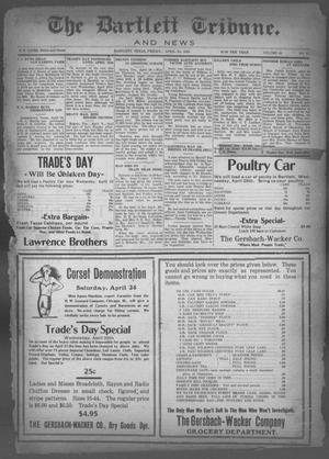 Primary view of object titled 'The Bartlett Tribune and News (Bartlett, Tex.), Vol. 40, No. 37, Ed. 1, Friday, April 23, 1926'.