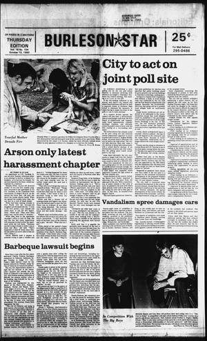 Primary view of object titled 'Burleson Star (Burleson, Tex.), Vol. 18, No. 104, Ed. 1 Thursday, October 13, 1983'.