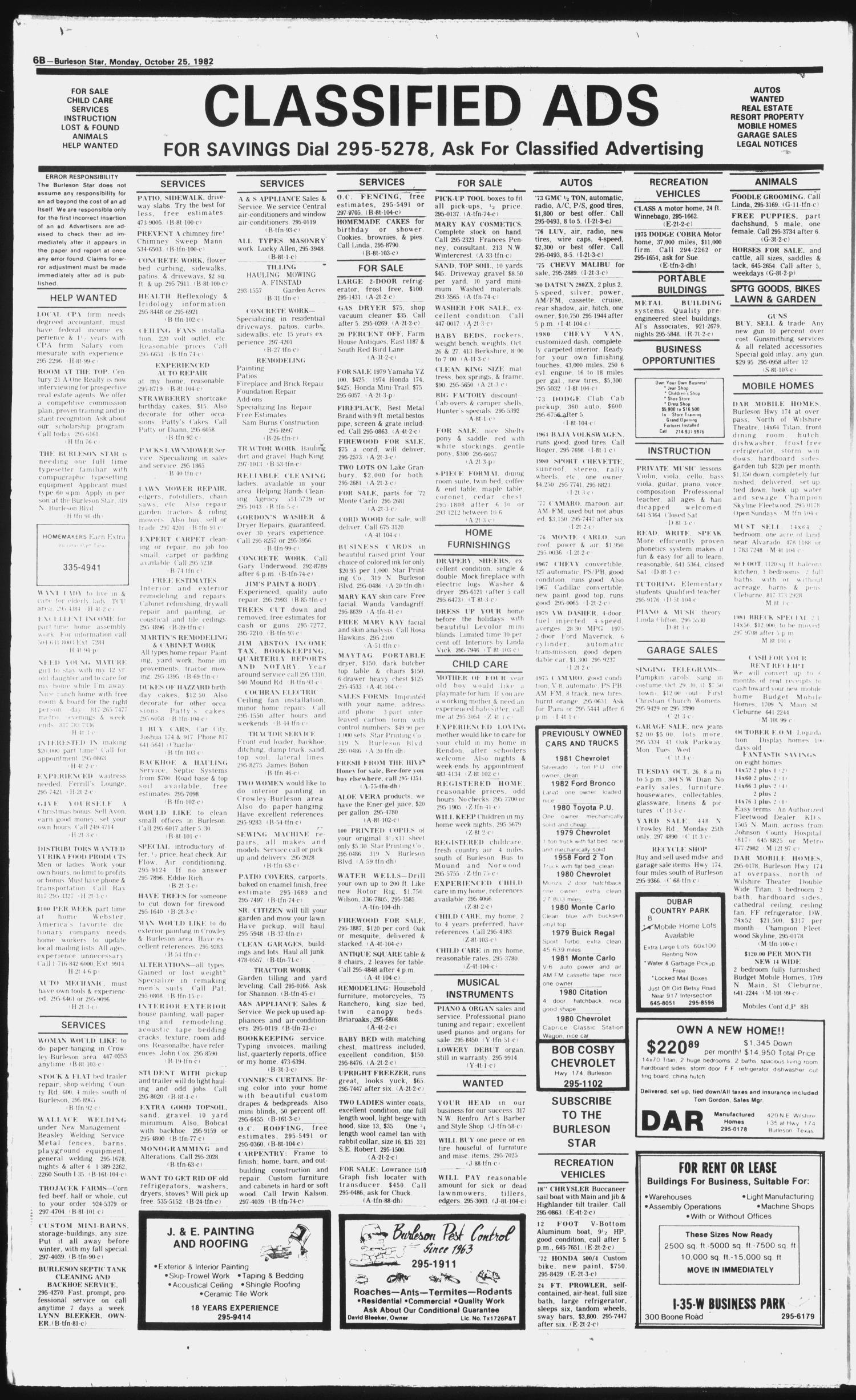 Burleson Star (Burleson, Tex.), Vol. 18, No. 3, Ed. 1 Monday ... on