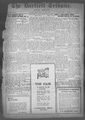 Primary view of object titled 'The Bartlett Tribune and News (Bartlett, Tex.), Vol. 41, No. 9, Ed. 1, Friday, October 29, 1926'.
