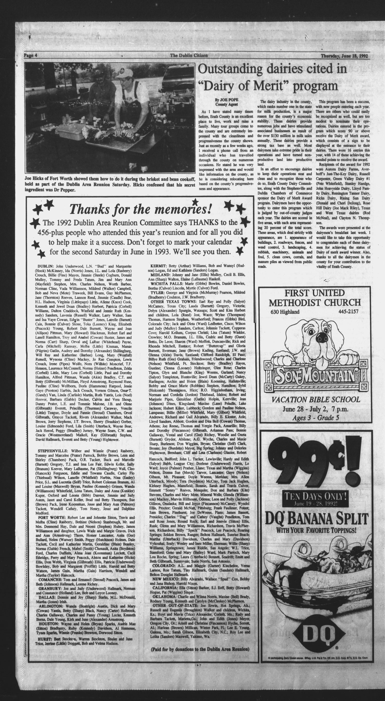 The Dublin Citizen Dublin Tex Vol 2 No 42 Ed 1 Thursday