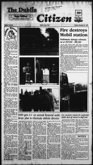 Primary view of object titled 'The Dublin Citizen (Dublin, Tex.), Vol. 7, No. 18, Ed. 1 Tuesday, December 24, 1996'.
