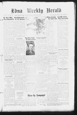Primary view of object titled 'Edna Weekly Herald (Edna, Tex.), Vol. 41, No. 31, Ed. 1 Thursday, June 10, 1948'.
