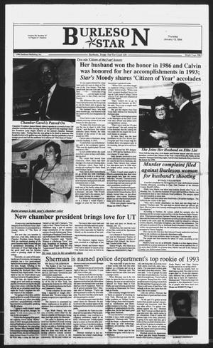 Primary view of object titled 'Burleson Star (Burleson, Tex.), Vol. 29, No. 27, Ed. 1 Thursday, January 13, 1994'.