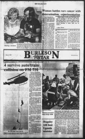 Primary view of object titled 'Burleson Star (Burleson, Tex.), Vol. 25, No. 86, Ed. 1 Wednesday, May 2, 1990'.