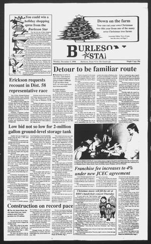Primary view of object titled 'Burleson Star (Burleson, Tex.), Ed. 1 Monday, December 5, 1994'.