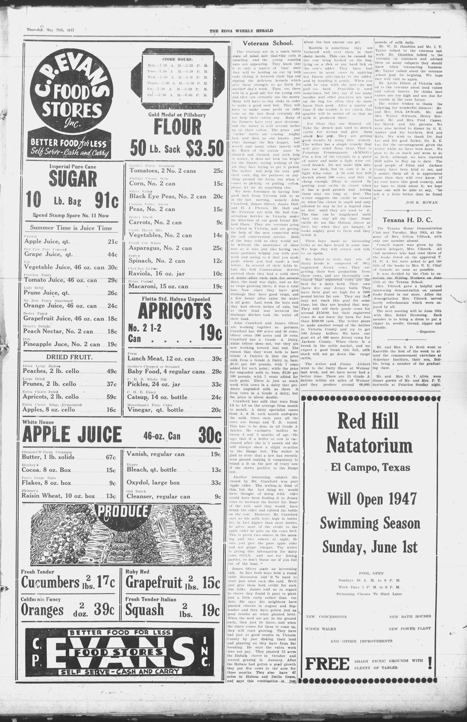 Edna Weekly Herald (Edna, Tex.), Vol. 40, No. 29, Ed. 1 Thursday, May 29, 1947                                                                                                      [Sequence #]: 3 of 12