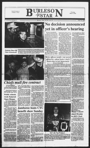 Primary view of object titled 'Burleson Star (Burleson, Tex.), Vol. 29, No. 41, Ed. 1 Thursday, March 3, 1994'.