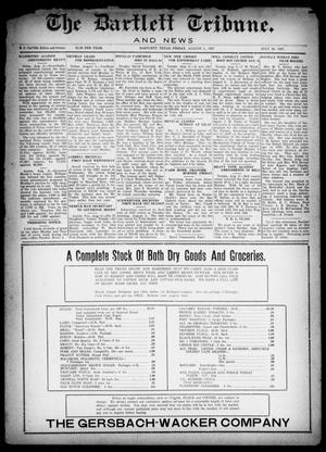 Primary view of object titled 'The Bartlett Tribune and News (Bartlett, Tex.), Vol. 42, No. 4, Ed. 1, Friday, August 5, 1927'.