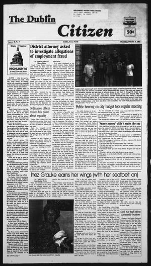 Primary view of object titled 'The Dublin Citizen (Dublin, Tex.), Vol. 8, No. 7, Ed. 1 Thursday, October 9, 1997'.